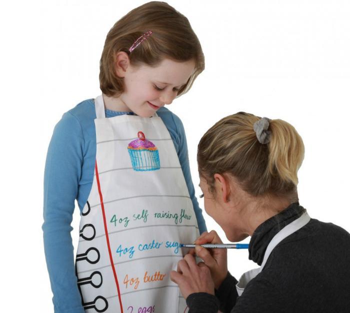 Eat sleep doodle förkläde för barn-1000x800