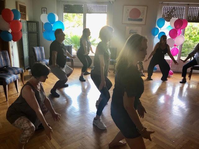 Ομαδική άσκηση στην ημέρα ευεξίας 2019