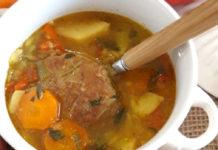 σούπα με μοσχάρι συνταγή