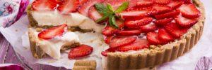 Ένα γλύκισµα  για τη µαµά: Τάρτα φράουλας µε τραγανή βάση µπισκότου